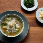 Vegetable Broth with Vegetarian Parmesan