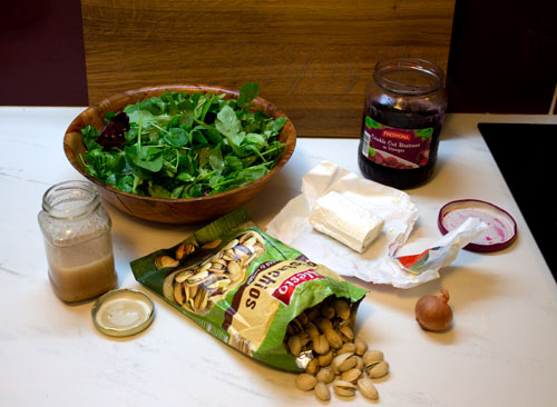 Ingredients for Lazy Pickled Beetroot & Goat's Cheese Salad