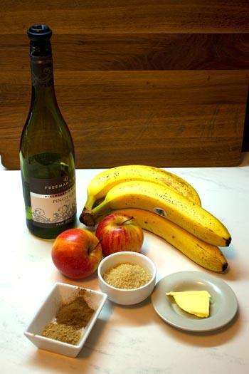 ingredients for baked fruit salad