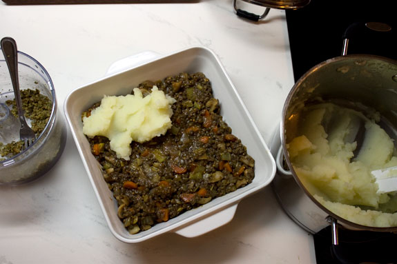 assemblin vegan shepherd's pie