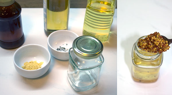Ingredients for honey mustard vinaigrette