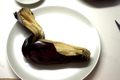 peel aubergines