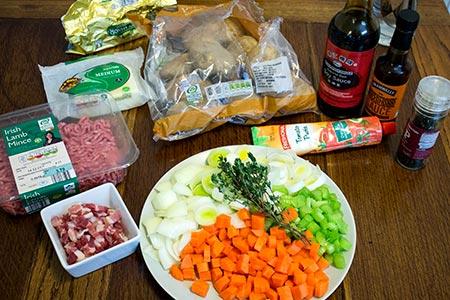 ingredients for shepherds pie