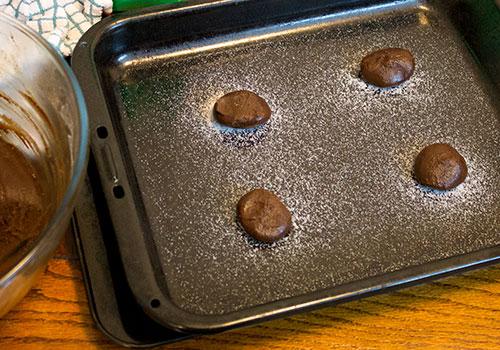 chocolate gingernuts pre-bake