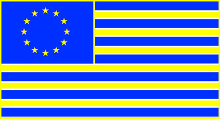 the flag of the united states of europe