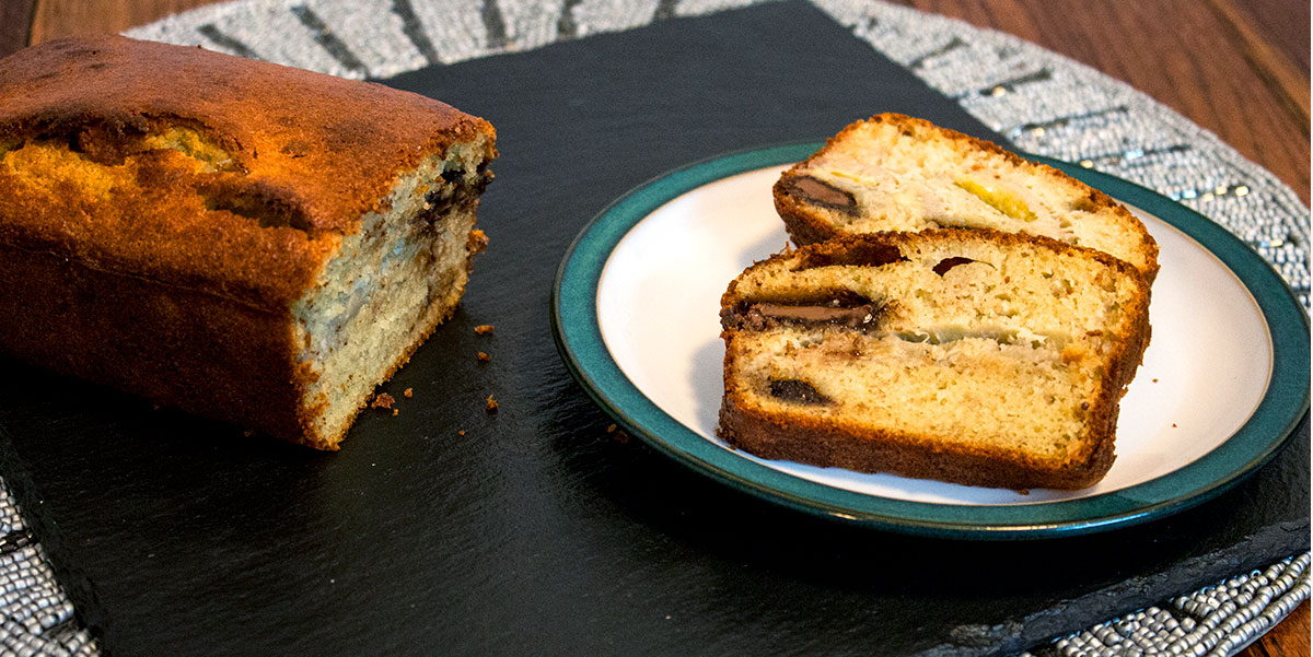 Banana and Chocolate Chunks Loaf