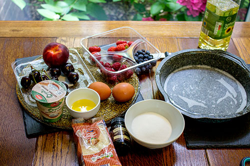 Ingredients for Summer Fruit Cake