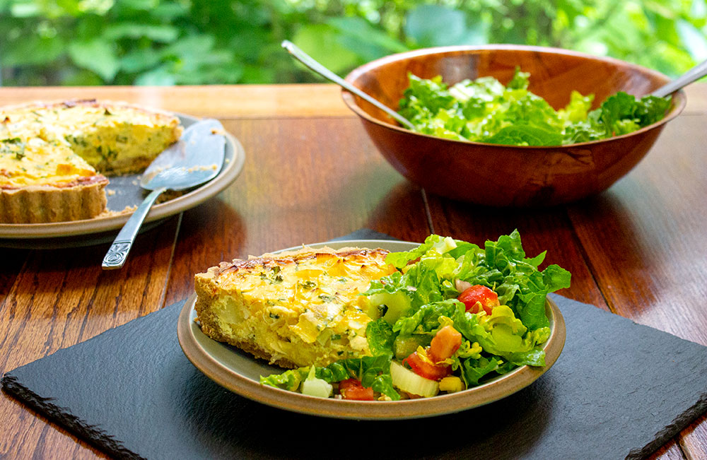 Leek Potato and Garlic Flamiche