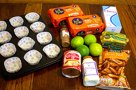 ingredients for mini key lime pies