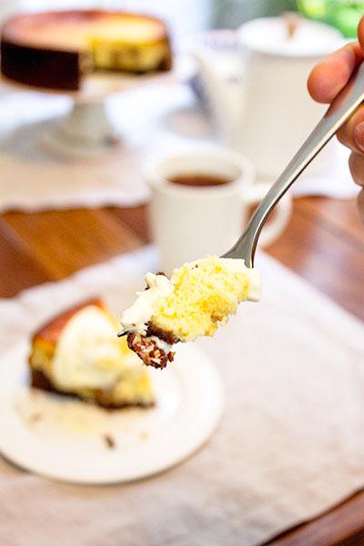 bite of cheesecake