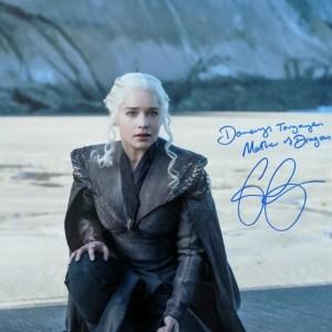 Elizabeth Olsen Signed Daenerys 11x14