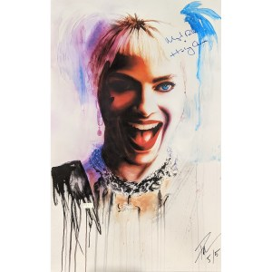 Rob Prior Harley Quinn Print signed by Margot Robbie