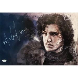 Rob Prior Jon Snow print signed by Kit Harington