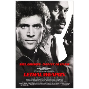 Mel Gibson Signed 27x40 Lethal Weapon Poster