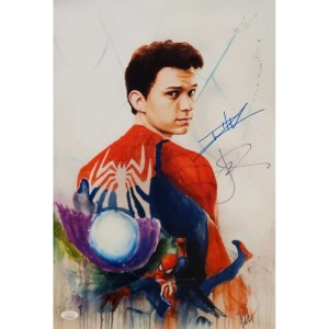 Rob Prior Spider-Man Far From Home print signed by Tom Holland and Jake Gyllenhaal
