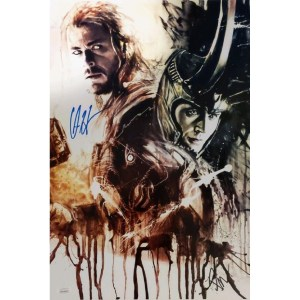 Rob Prior Thor & Loki print signed by Chris Hemsworth