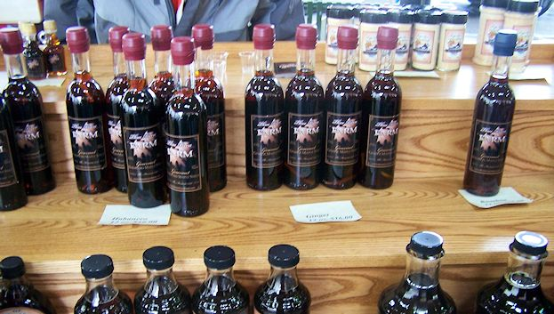 Flavored maple syrup at the St. Paul Farmers' Market. Have you tried the habanero yet?