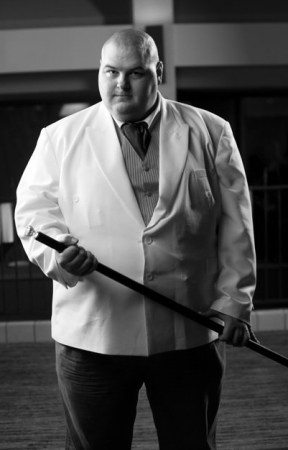 Nick Glover dressed as Kingpin