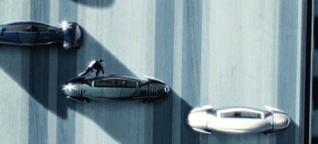 minority report car chase