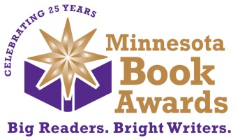 "Minnesota Book Awards logo: ""Big Readers. Bright Writers."""