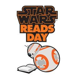 Star Wars Reads Day logo featuring BB-8 reading a book