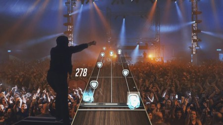 A gameplay screenshot from Guitar Hero LIve
