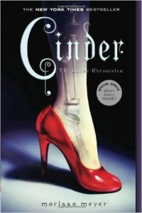 Cover for Cinder, part of the Lunar Chronicles series