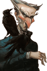 Count Olaf as drawn by Brett Helquist . © 2003