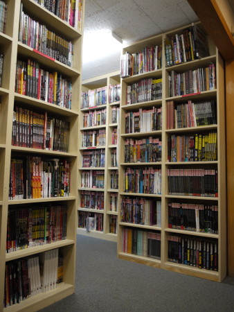 Graphic novels and trade paperbacks section