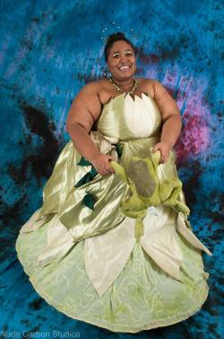 Briana does a stunning Princess Tiana cosplay