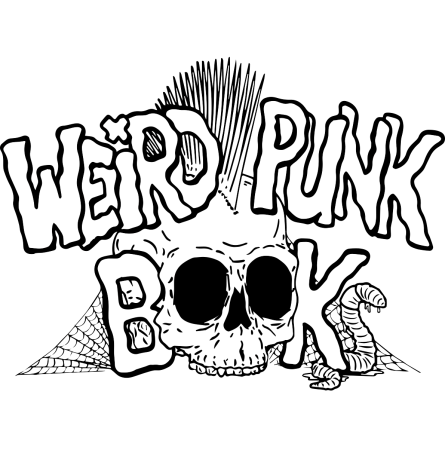 Weirdpunk Books logo with a skull whose eyes are the oo in books.