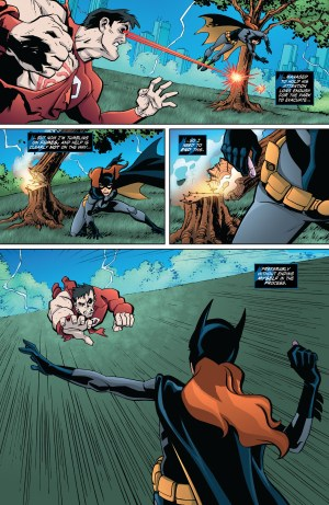 Batgirl fights Match in Young Justice comic