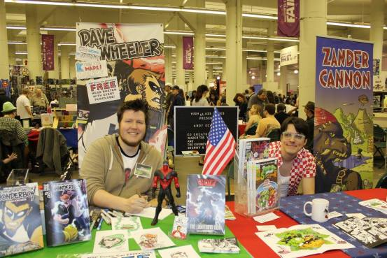 Dave Wheeler (left) at MSP ComiCon 2015 via MCBA