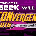Twin Cities Geek logo and CONvergence 2016 Logo