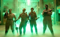 Melissa McCarthy, Kate McKinnon, Kristin Wiig, and Leslie Jons as the Ghostbusters