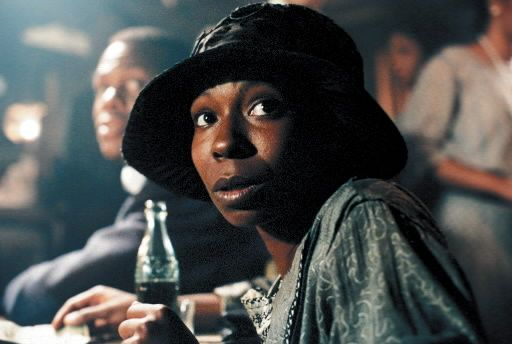 Whoopie Goldberg taking in a juke joint in The Color Purple.
