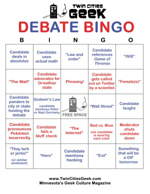 Debate bingo card version B