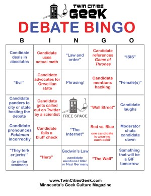 Debate bingo card version C