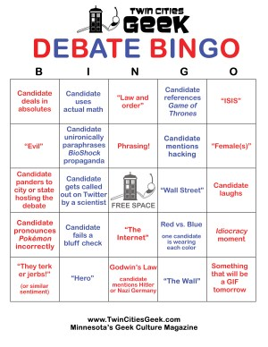 Debate bingo card version D