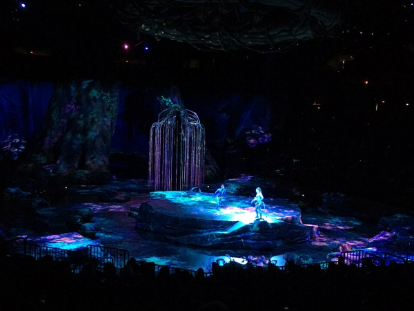 The stage for Toruk at the Target Center