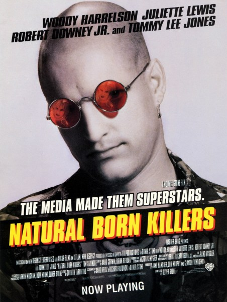 Movie poster from Natural Born Killers.