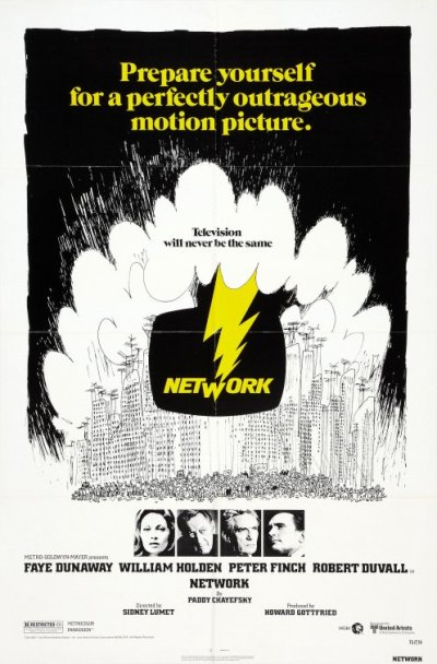 Movie poster for Network.