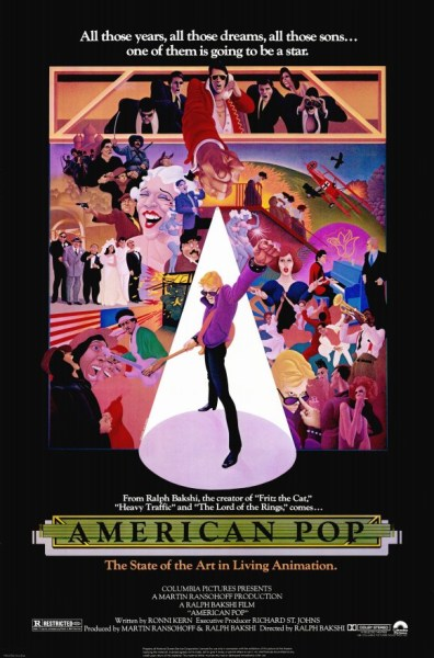 Movie poster for 1981's American Pop.