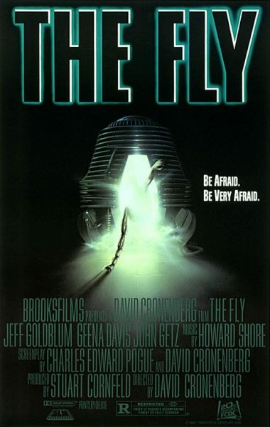 The Fly Theatrical poster - Be Afraid, Be Very Afraid