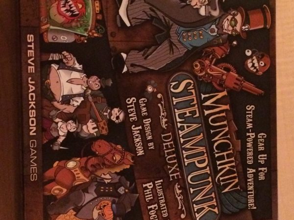 Picture of the cover for the board game Munchkin Steampunk.