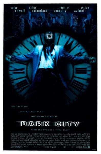 Theatrical poster for Dark City