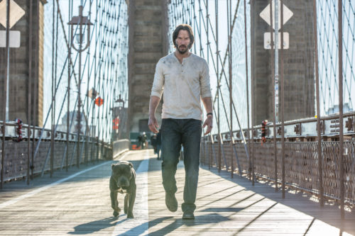 John Wick (Keanu Reeves) and a Dog Named No