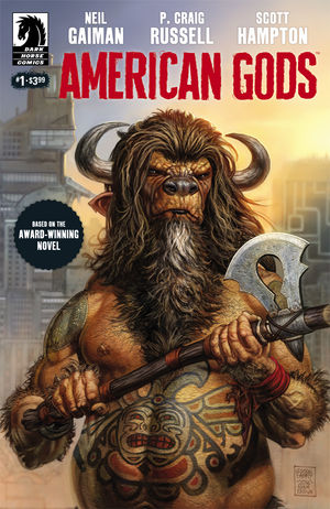 "Cover of American Gods, Issue #1 ""Shadows"", Dark Horse Comics"
