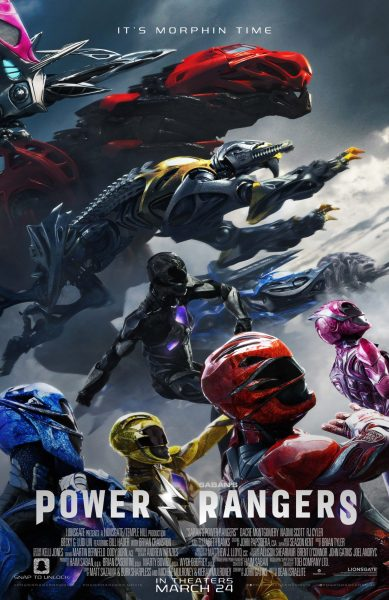 Poster for the Power Rangers movie.