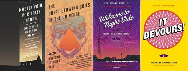 Covers of the four Night Vale books